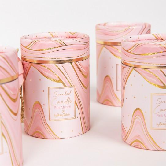 Αρωματικό κερί marble ροζ