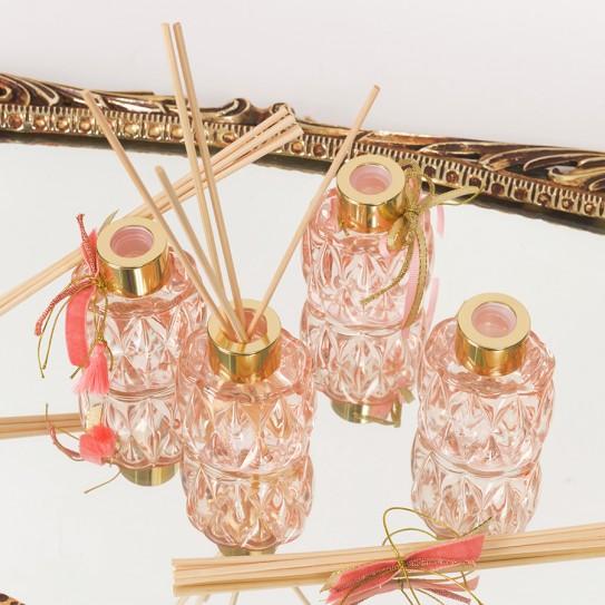 Αρωματικό χώρου σε ροζ απαλό σκαλιστό γυάλινο μπουκαλάκι 50ml