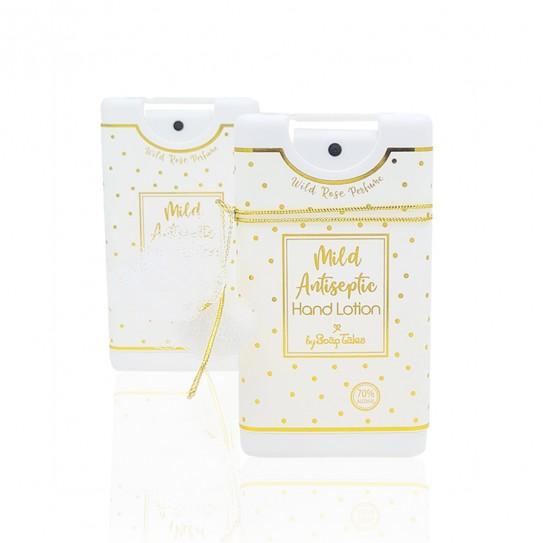 Αντισηπτικό χεριών λευκό χρυσό με μυρωδιά wild rose