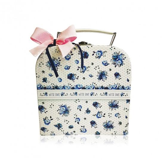 Βαλιτσάκι Μπλε Λουλούδια